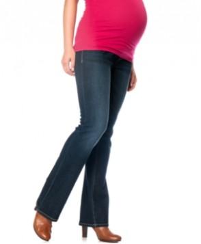 Indigo Blue Maternity Boot-Cut Jeans, Midnight Dark Wash