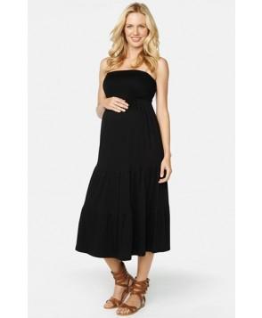 Maternal America Convertible Strapless Maternity Dress