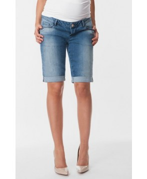 Seraphine 'April' Denim Bermuda Maternity Shorts