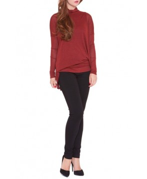 Olian 'Lisa' Asymmetrical Maternity Top, /Small - Red