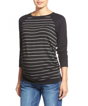 Tart Maternity 'Katrina' Striped Maternity Sweatshirt