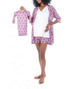 Everly Grey 'Daphne - During & After' 5-Piece Maternity Sleepwear Set