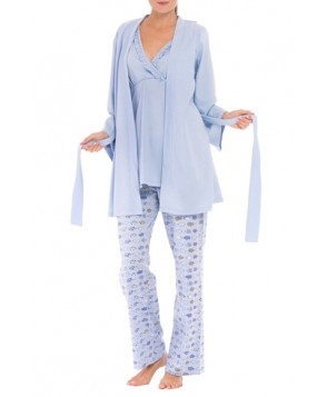 Olian 'Anne' Maternity Pajamas & Robe With Coordinating Pillowcase