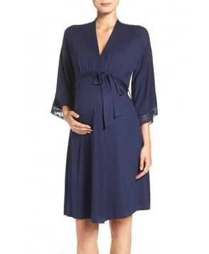 Belabumbum 'Eva' Maternity Robe Blue