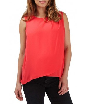 Topshop Sleeveless Drape Maternity/nursing Blouse