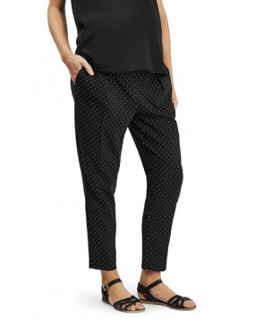 Topshop Pin Dot Maternity Trousers - Black