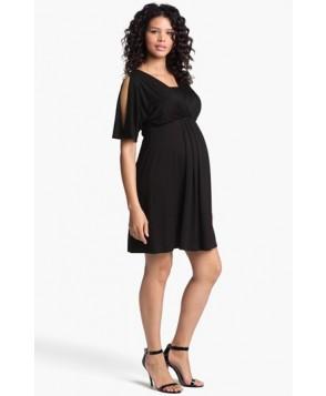 Maternal America Split Sleeve Maternity Dress