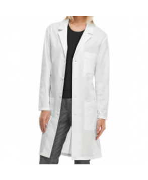 Cherokee long unisex lab coat with Certainty - White