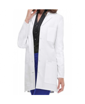 Cherokee 3 inch  button lab coat with Certainty - White