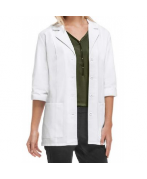Cherokee 3/4 sleeve lab coat with Certainty - White