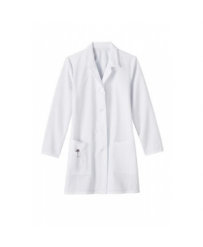 Meta ladies 3 inch lab coat - White