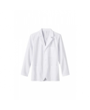 Meta mens consultation length lab coat - White