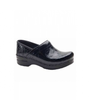 Dansko Professional tooled leather nursing clog - Black