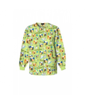 Cherokee Bee Kind to Your Teeth print scrub jacket - Bee Kind to Your Teeth