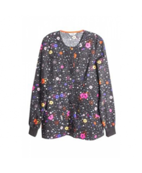 Code Happy More Flower to You print scrub jacket ore Flower to You