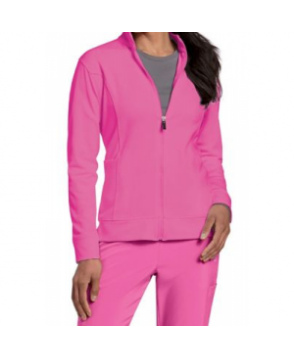 Urbane Performance Breast Cancer Awareness media scrub jacket - Cotton candy