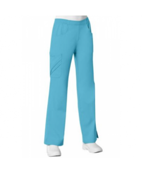 Cherokee Luxe mid rise pull on cargo scrub pants - Blue Wave
