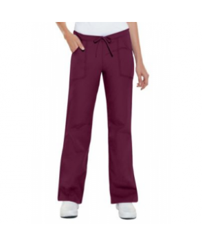 Cherokee Flexibles drawstring scrub pants - Wine