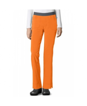 Infinity by Cherokee low rise slim pull on scrub pants with Certainty - Orangeade