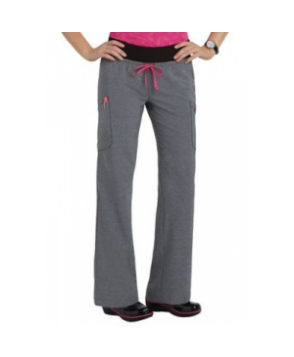 Smitten Legendary drawstring fashion scrub pants - Heather grey