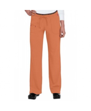 HeartSoul Heart Breaker drawstring scrub pant - Orange Pop