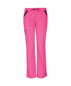 HeartSoul Breast Cancer Awareness Charmed scrub pants - Pink Party
