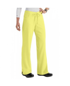 Greys Anatomy -pocket drawstring scrub pant - Citron - PXS