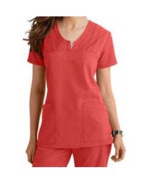 Greys Anatomy v-neck -pocket scrub top - Nectarine