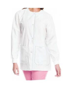 Landau tie back warmup jacket - White