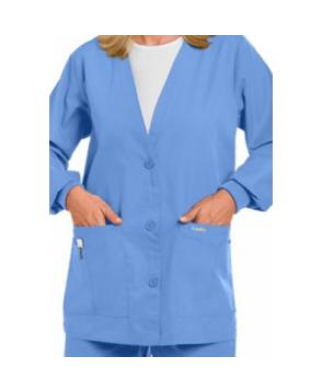 Landau V-neck scrub jacket - Ceil