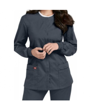 Dickies EDS Signature snap front scrub jacket - Pewter