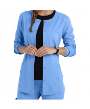 Urbane Ultimate button front scrub jacket - Ceil