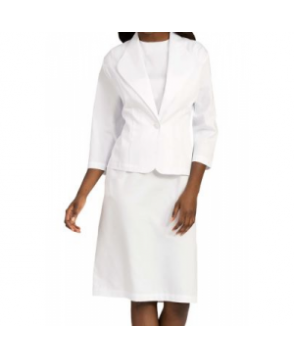 Med Couture Esther Dress and Jacket Set - White