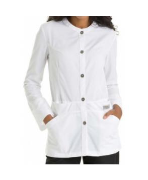 Urbane Scrubs 3 inch medical lab jacket - White