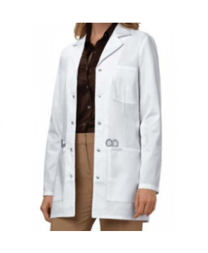 Cherokee snap front 3 inch lab coat with Certainty - White
