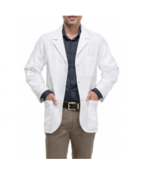 Cherokee mens consultation 3 inch lab coat with Certainty Plus - White