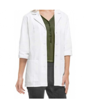 Cherokee 3/4 sleeve lab coat with Certainty Plus - White