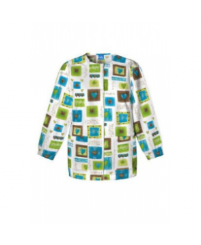 Cherokee Scrub HQ Victorian Hearts print scrub jacket - Victorian Hearts