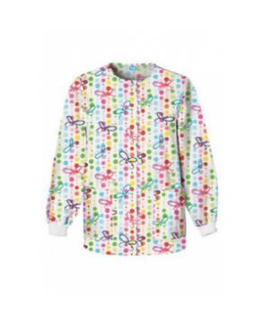 Cherokee Scrub HQ Butterfly Dots print scrub jacket - Butterfly Dots