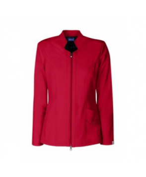 Sapphire two-way zipper scrub jacket with Certainty - Ruby Red