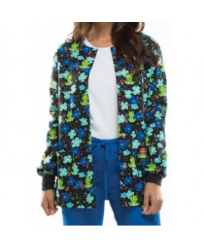 Dickies EDS Froggy Floral print scrub jacket - Froggy Floral