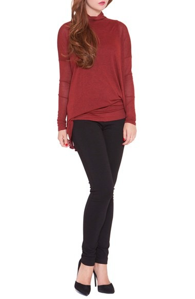 6eb2c384459a5 Olian 'Lisa' Asymmetrical Maternity Top, /Small - Red