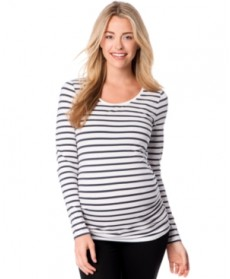 BumpStart Maternity Long-Sleeve Scoop-Neck Tee, Two-Pack