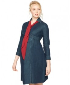 A Pea in the Pod Maternity Long-Sleeve Wrap Dress