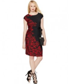A Pea In The Pod Maternity Floral-Print Cap-Sleeve Dress