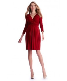 Seraphine 'Jolene' Front Knot Maternity Dress