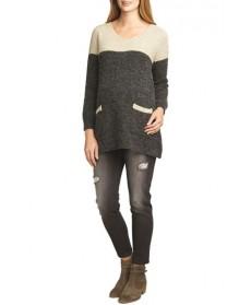 The Urban Ma Contrast Yoke Maternity Sweater