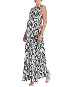 Seraphine Wrap Maxi Maternity Dress