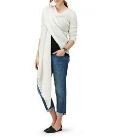 Isabella Oliver Maternity Wrap Cardigan, /Large - White