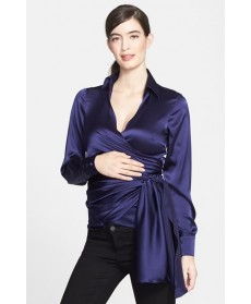 Eva Alexander London Silk Wrap Maternity Shirt